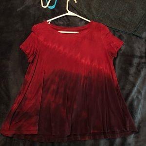 Red & Purple Flowy T-Shirt
